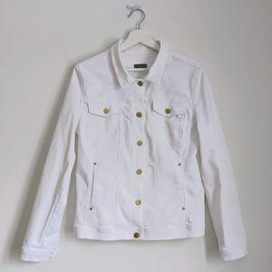 NYDJ M/L White Stretch Jean Jacket